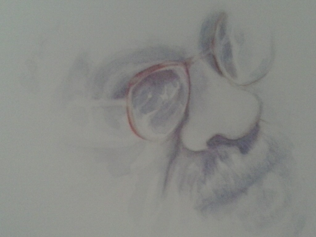Portrait D.Walcott, Aquarelle