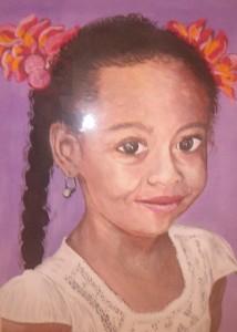 Portrait d'une petite fille - Robert Peux