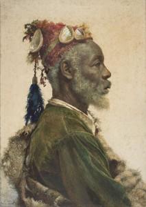 Portrait d'un notable musulman, connu pour son opposition féroce au colonialisme.